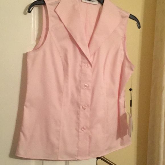 9f1280da6e2 Calvin Klein Sleeveless Button Front size 2 shirt